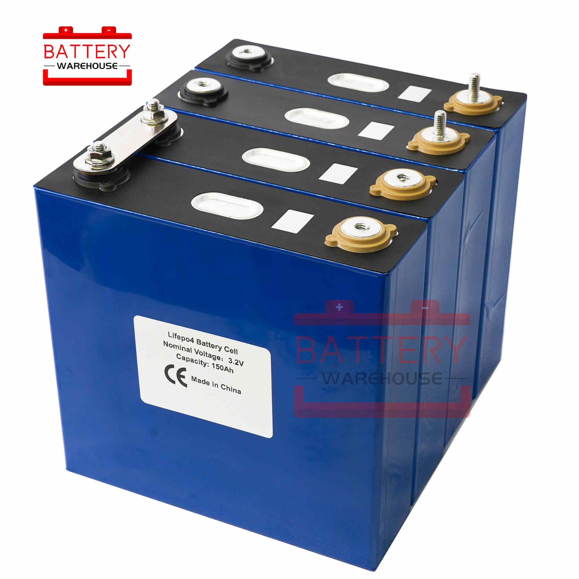 GRADE A new 4Pcs 3.2v 130ah Lifepo4 <font><b>battery</b></font> Lithium iron phosphate cell <font><b>batteries</b></font> <font><b>12v</b></font> 24V130AH not 120AH <font><b>150AH</b></font> for solar RV image