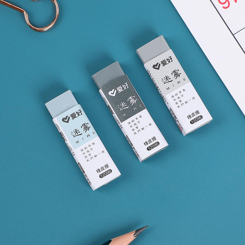 1pc Dense Fog Simple Retro Eraser Mini Student Pure Color Kids Eraser Novelty Erasers School Supplies Kawaii