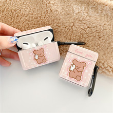 Funny Cute Bear Earphone Case For Apple Airpods Cover Cartoon Silicone Headphones Case Box For airpods Pro 1 2  Charging Funda