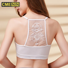 Bras Bralette Hollow-Out Solid-Color Lingerie Lace Women Underwear Sexy Fashion Seamless