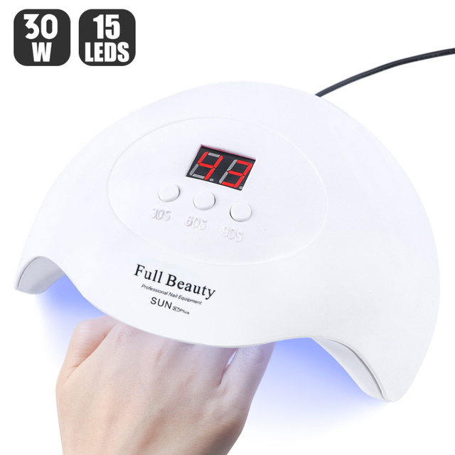 UV LED Nail Lamp 30W/9W USB Manicure Dryer For Curing All Gel Varnish Nails Drying Machine Tools 30s/60s/90s LASunX7Plus 1