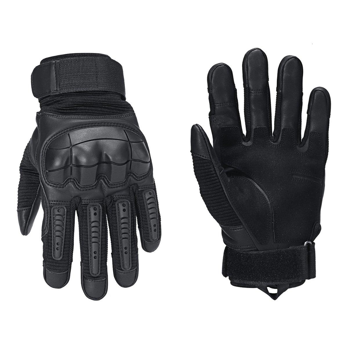 1 Pair Motorcycle Gloves Microfiber Rubber Unisex Full Finger Glove Winter Outdoor Sport Warm Glove Motocross Protective Gloves