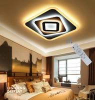 الحديثة نوم السقف الإضاءة AC90 260V داخلي مربع مصباح اكريليك رقيقة جدا LED مطعم تركيبات عالية 5 سنتيمتر شحن مجاني-في أضواء السقف من مصابيح وإضاءات على