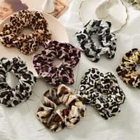 2021 Fashion Leopard Print Elastic Hairbands Ponytail Hair Scrunchies Elastic Hair Ties Rope Women Girls Hair Accessories