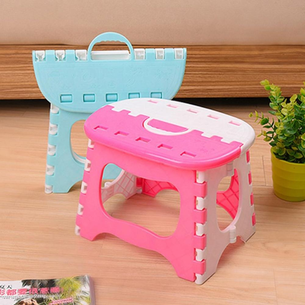 Plastic Folding Stool With Handle Lightweight Outdoor Indoor Folding Stool For Adults Kids Great For Kitchen