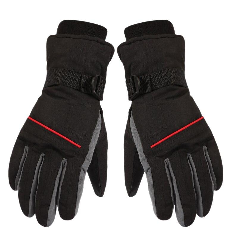 Extra Thick Ski Gloves Winter Snow Outdoor Sport Men Warm Snowmobile Motorcycle Waterproof Snowboard