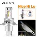 HLXG H11 H4 светодиодный головной светильник H8 h7 HB4 HB3 9005 9006 турбо автомобильная лампа авто противотуманный светильник Лампа для проектора 6000K ...
