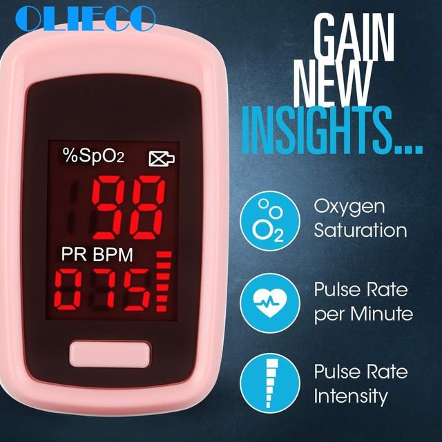 OLIECO Finger Pulse Oximeter PR SpO2 Meter Accurate Blood Oxygen Saturation De Dedo Pulso Oximetro Home family Pulse Oxymeter