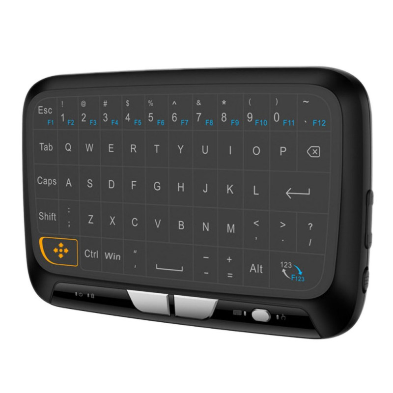 mini black H18 Mini Wireless 2.4GHz Keyboard Air Mouse Large Full Screen Touchpad USB Black New (1)
