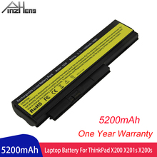 PINZHENG Laptop Battery For Lenovo ThinkPad X200 X201s X201i X200s 42T4835 ASM 42T4537 FRU 42T4536 FRU 42T4538 Laptop Bateria 20v 3 25a 65w ac adapter charger for lenovo ibm x60s x61 x61s x200 x200i x200s x201 x201i x201s x220 x220i f25
