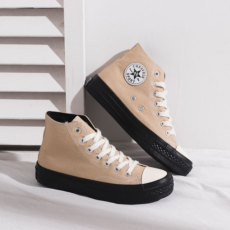 2020 Ins High Quality Classic Women Canvas Shoes EURO High Top Flats Women Vulcanized Shoes Factory Outlet Female Casual Shoes