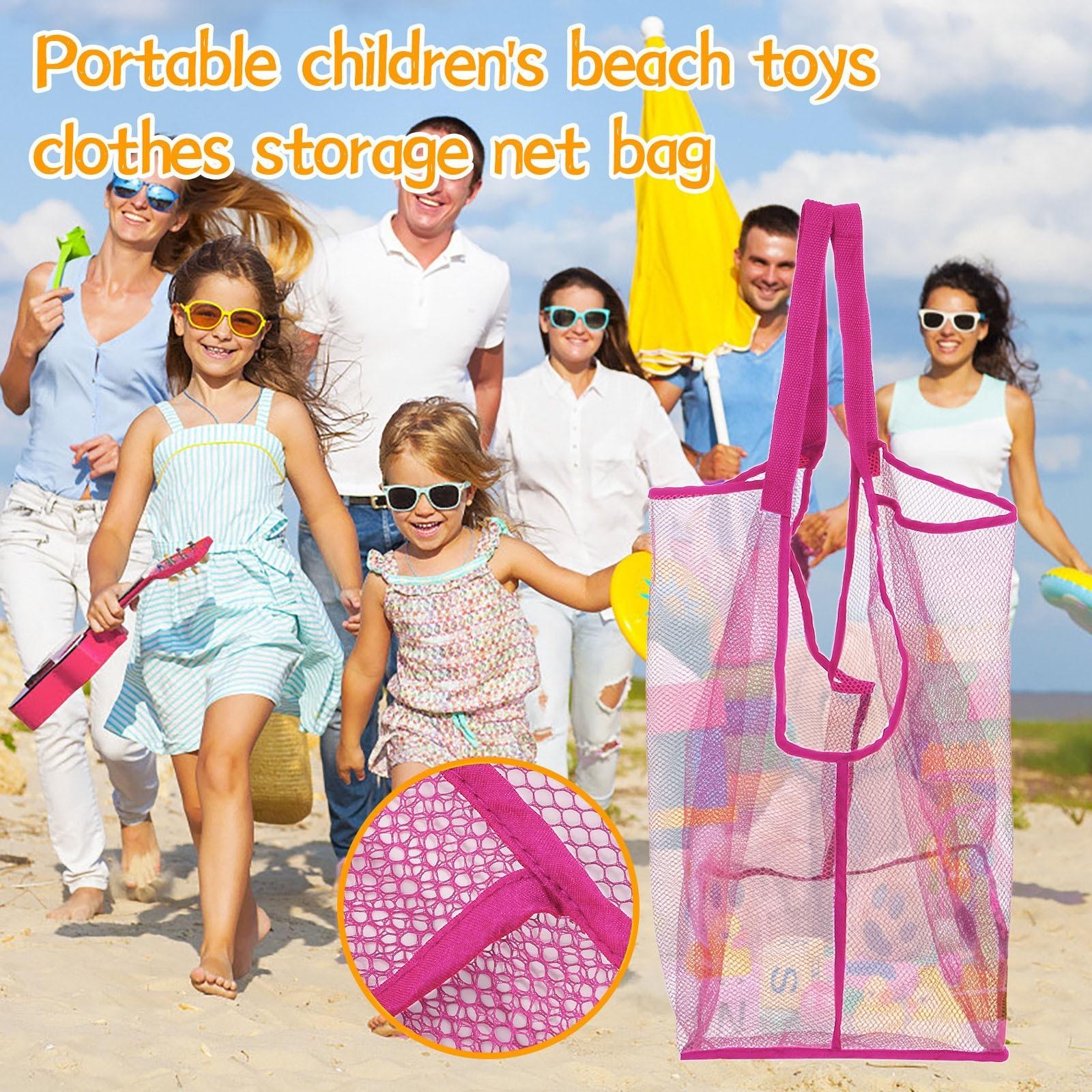 Children's Mesh Storage Bags Sand Beach Seashell Bag Kids Toy Sandboxes Storage Bag Large Net Water Durable Beach Handbag