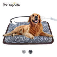 Benepaw Adjustable Heating Pad For Dog Cat Puppy Power-off Protection Pet Electric Warm Mat Bed Waterproof Bite-resistant Wire