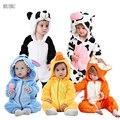 Детский комбинезон для маленьких девочек одежда Единорог кигуруми детские комбинезоны костюм для косплея аниме для детей, новорожденных, п...