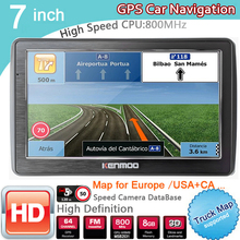 Portable Navigation Caravan CAMPING Europe 7inch TRUCK GPS Sat Nav HD for Russia Free-Lifetime