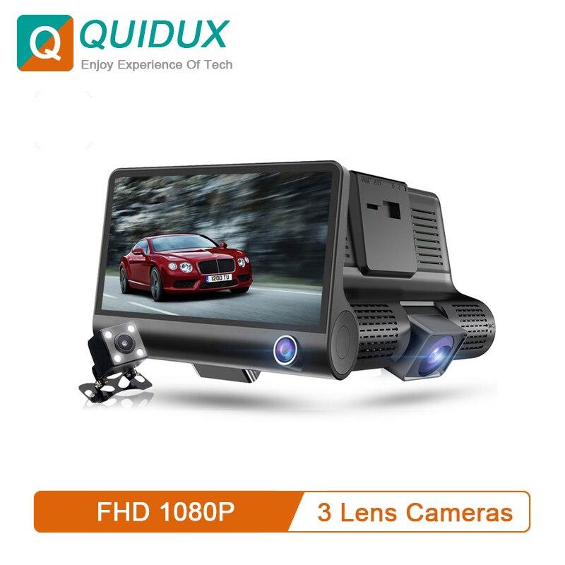 3-Lens Car-Dvr Rearview-Camera Dash-Cam Video-Recorder Ips-Screen Autoregistrator 170-Degree