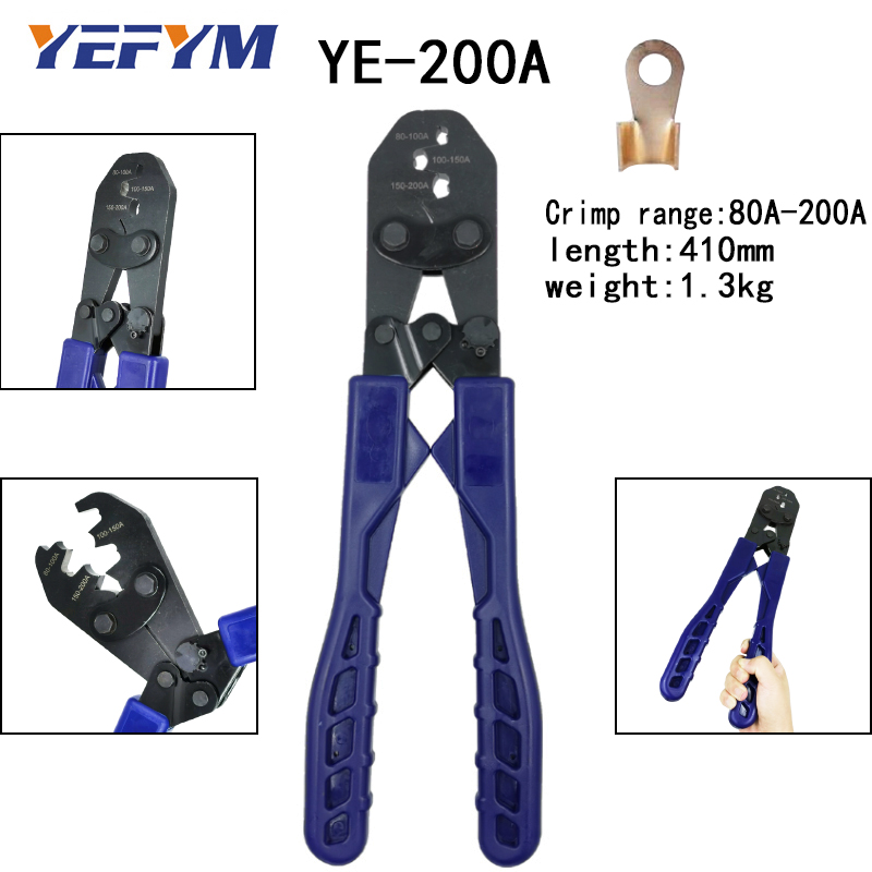 Capacity Plier Alloy Strength Wire Tools 200A Tools OT For Terminal High Crimping Molding Opening Integrated Electrician 5A