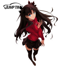 JumpTime 13cm x 8.6cm Anime Sexy Cute Girl Fate stay night Tohsaka Rin Beautiful Graphic Vinyl Car Window Laptop Decal(China)