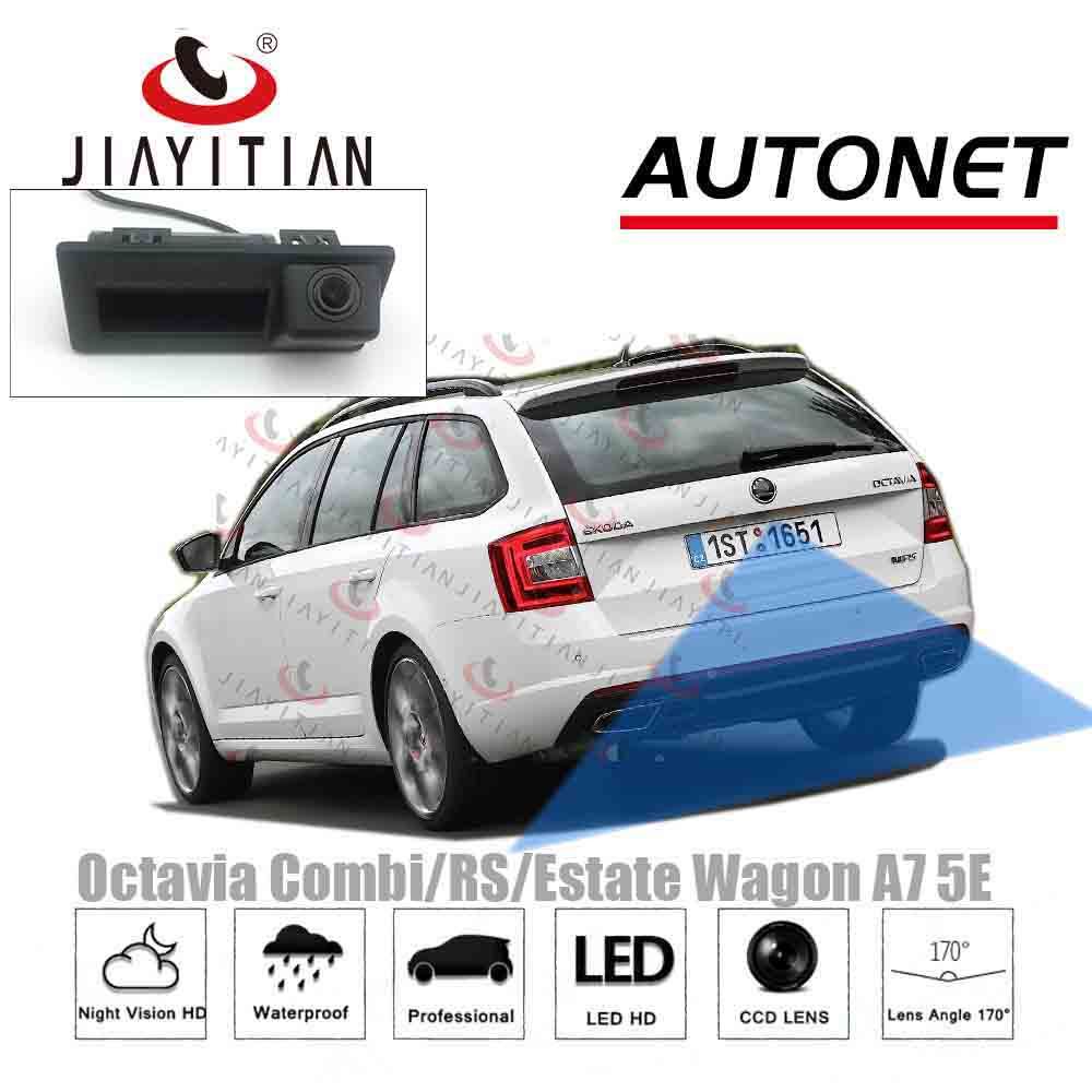 JIAYITIAN For Skoda Octavia Combi RS Wagon A7 5E 2015~2018/HD Backup Camera Rear/Instead Of Original Factory Trunk Handle Camera