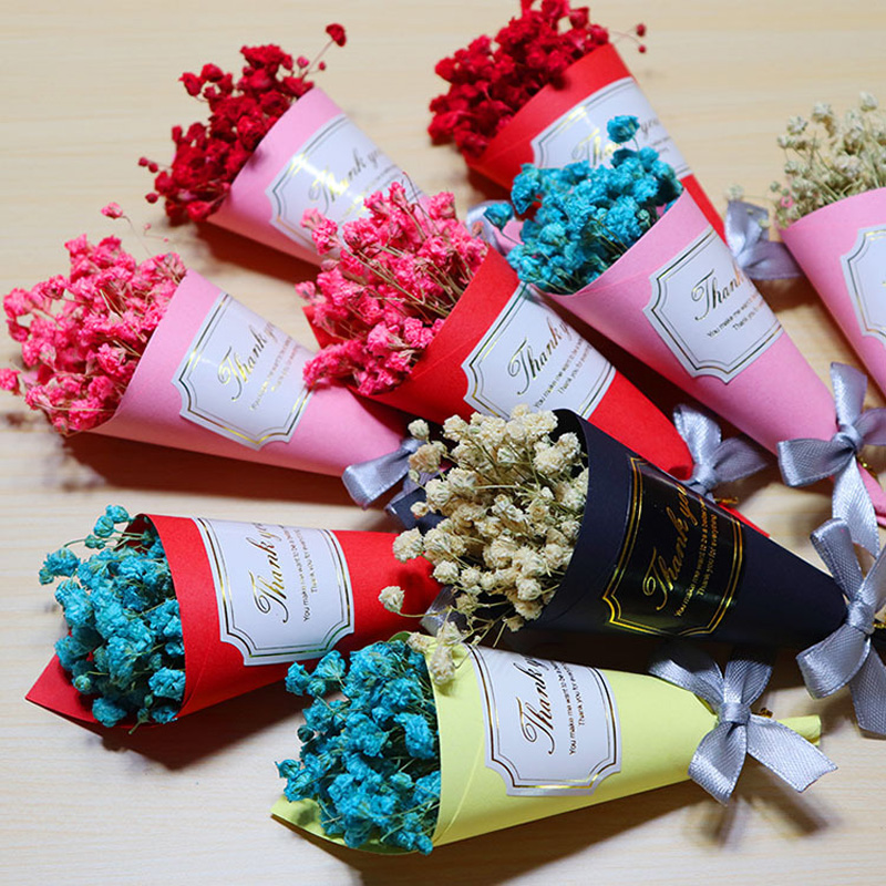 10pcs Gypsophila dried flower bouquet Valentine 39 s Day gift small dry bouquet event gifts ZY20190709 in Party Favors from Home amp Garden