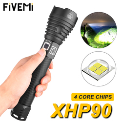 Super bright XHP90/70.2 LED Flashlight Super Powerful Torch USB Zoom Lamp Zoom Torch Use 18650 26650 Rechargeable Battery