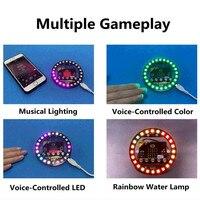 가장 인기있는 diy 학습 키트 마이크로: 비트 프로그래밍 가능한 확장 보드 arduino 음성 제어와 호환 다채로운 led rgb 조명