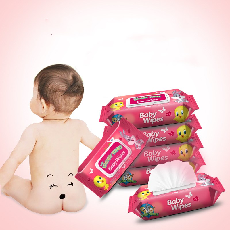 Infant Cleaning Only Wet Wipe 60 Piece Infant With Lid Wet Wipe A Generation Of Fat Red Wholesale Customizable