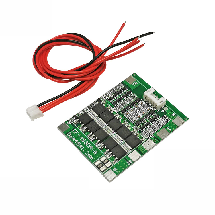 4S 30A 14.8V Li-ion Lithium 18650 Battery BMS Packs PCB Protection Board Balance Integrated Circuits image