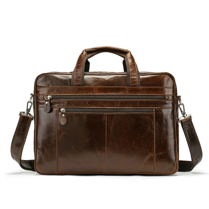 2020 New Genuine Cowhide Leather Bag Business Affairs Male Package Will Capacity Cross Section Handbag Single Shoulder Outdoors