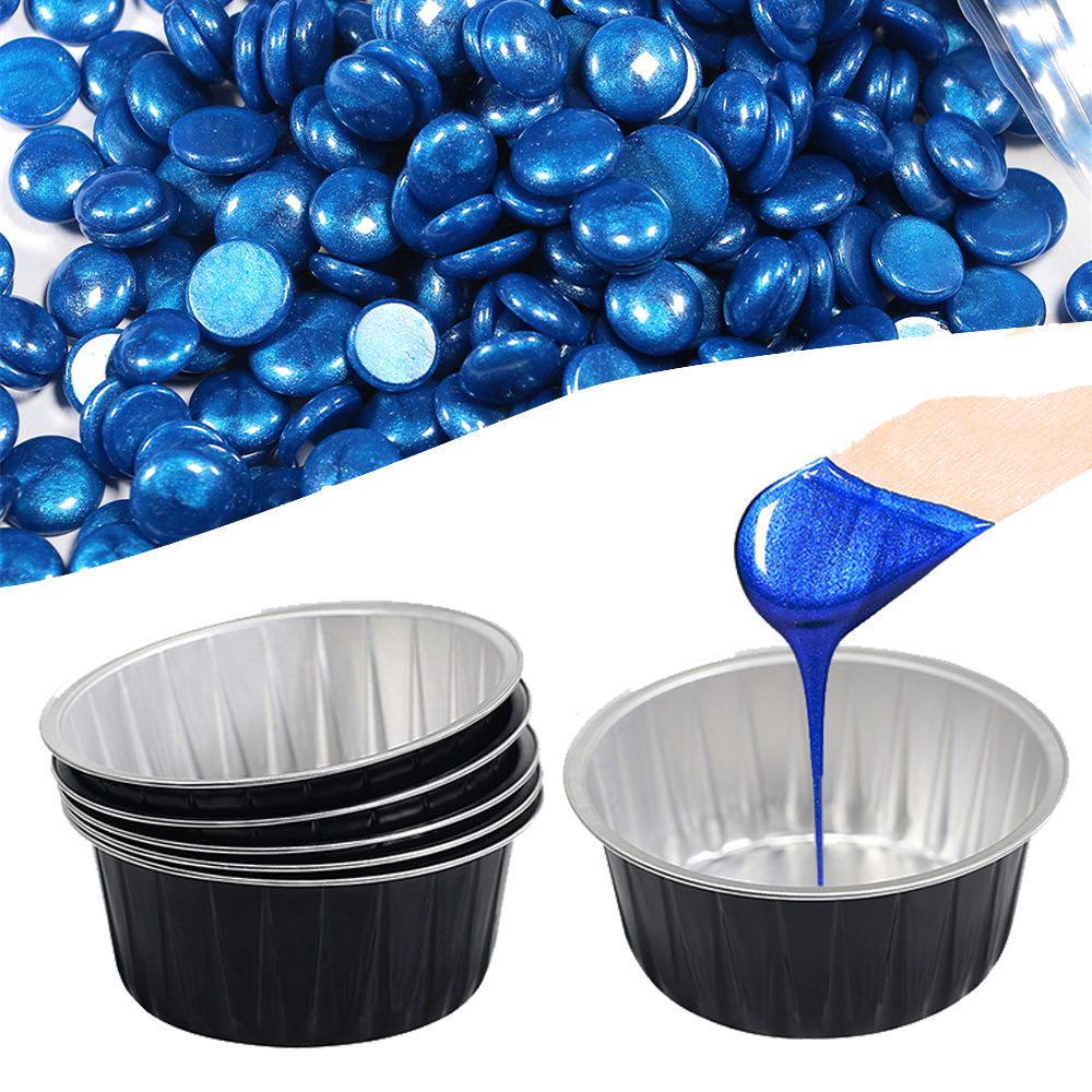 10PCS Depilatory Hair Removal Melting Wax Bowl Aluminum Foil Hot Film Hard Waxing Pellet Box Container Hair Removal Tools