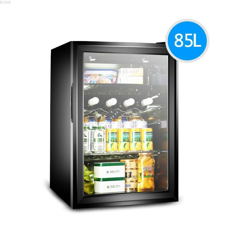 Single Door Ice Bar Refrigerator Red Wine Cabinet Tea  Mini Refrigerator   Refrigerators Household  Mini Fridges