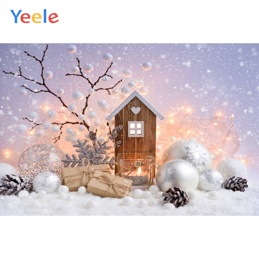 Yeele Christmas Backdrop Snow Wood Board New Year Newborn Baby Birthday Party Photography Background For Photo Studio Vinyl in Background from Consumer Electronics