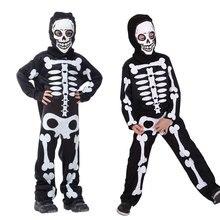 Umorden Boys Scary Skeleton Bones Costume Cosplay Kids Child Halloween Party Dia de los Muertos Day of the Dead Fancy Dress