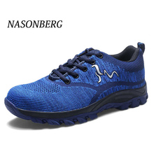 NASONBERG Comfortable Shoes Mens Steel Toe Work Safety Casual Breathable Outdoor Sneakers Puncture Proof Boots for Men
