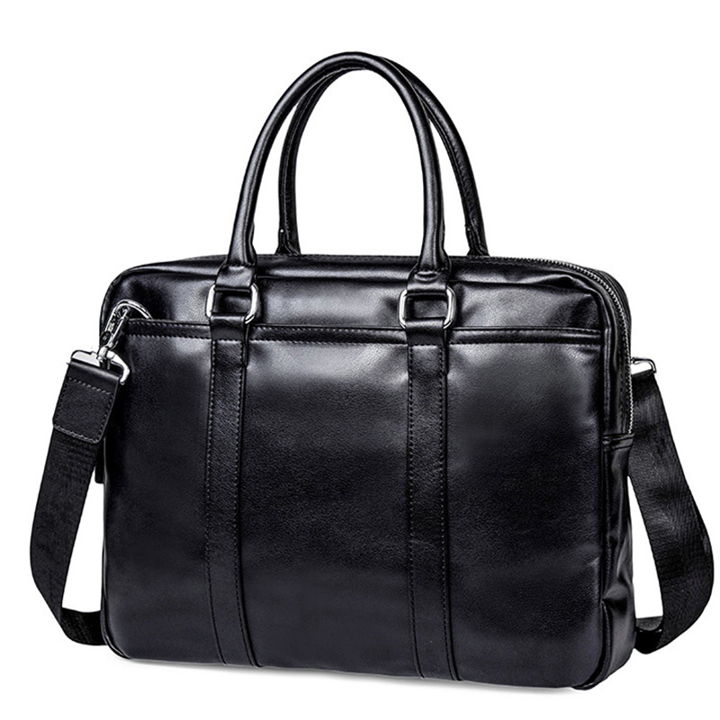 Fashion Simple Men Briefcase Leather Laptop Bag Casual Man Bags For Men Shoulder Bags Document Briefcases Totes Bag