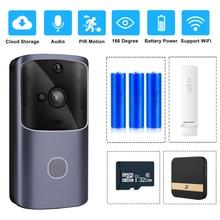 ZILNK Умный домашний дверной звонок wifi беспроводной видеодомофон дверной звонок камера монитор батарейный пульт дистанционного управления iOS Android