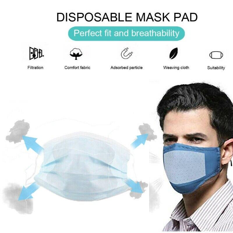 100Pcs/Lot Universal Disposable Mask Replacement Pad Fit Flu Masks New Arrival