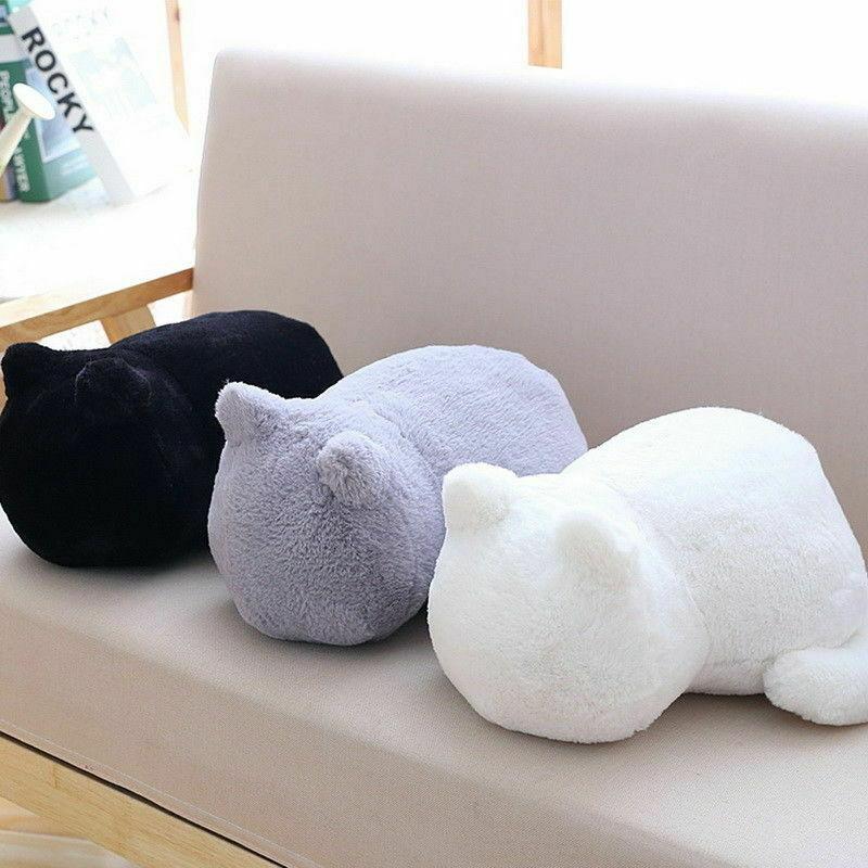 Cute Cartoon Doll Cat Plush Cushions Pillow Back Animal Toys