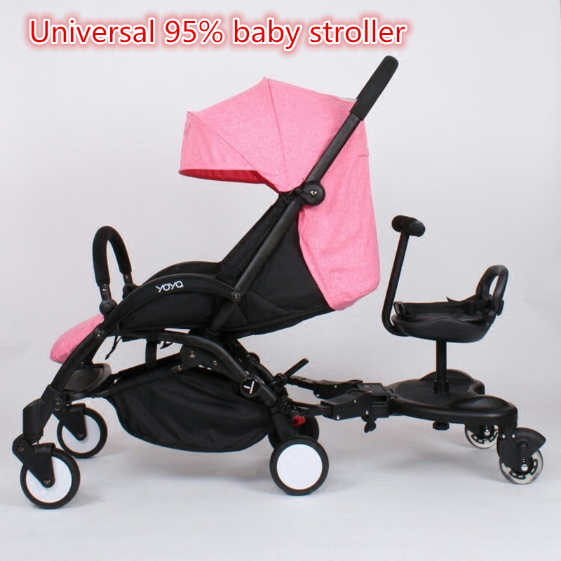 Universal Stroller Accessories Pedal Twins stroller Standing Plate Rider Buggy Board Sibling Board Second Child Artifact Traile|Mutiple  Stroller| |  - title=