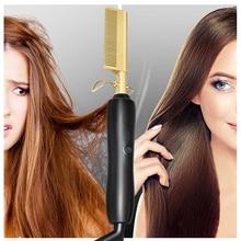 Hot Comb Brush Hair Curler Hair Straightener and Curler 2 in 1 Twist Hair Curling & Straightening Iron Hair Straightener Pro цена 2017