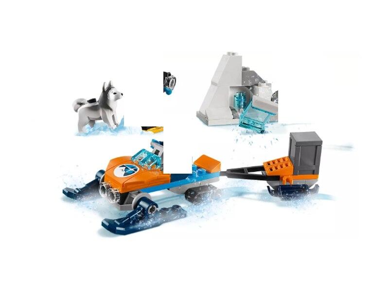 בלה 10992 הארקטי חקר צוות עיר תואם DIY 60191 אבני בניין 78pcs לבני צעצוע יום הולדת מתנות