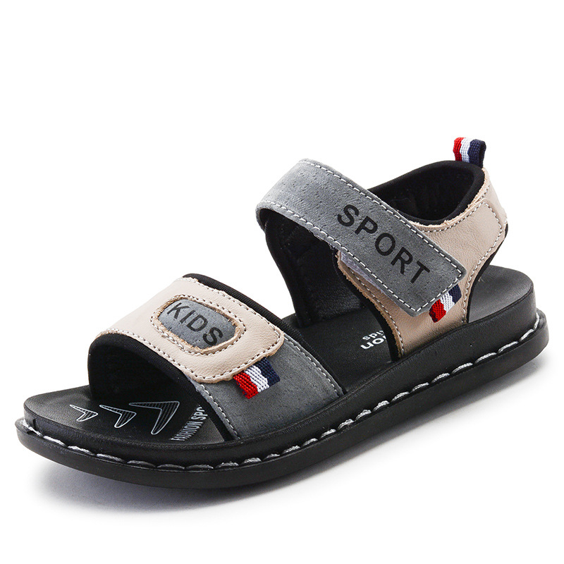Boys Beach Sandals 2019 Summer Children s Genuine Leather Cowboy Sneakers Casual