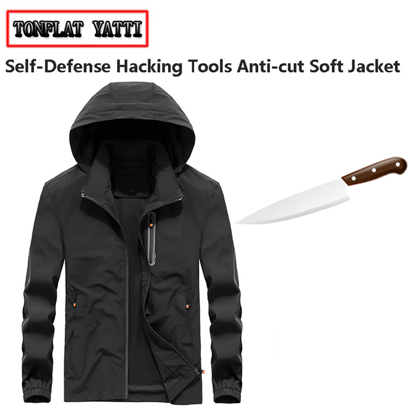 Anti-cut Cut Resistant Self-defense fbi light Schutzweste Tatico Anti Covert Stab long sleeve protective jacket work clothing