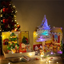 Get more info on the DIY House Material Package Paper Box With Light Handmade Craft Gift Children Christmas Gifts BoxCM
