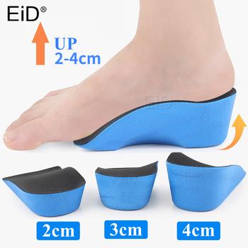 EiD EVA 2-4cm wysokość zwiększ buty na koturnie wkładka Taller wkładka wkładki oddychająca pięta wkładka wysoki podnośnik dla mężczyzn kobiety tanie i dobre opinie 3 cm-5 cm Średnia (B M) Wkładki do butów Height Increase Insoles Stałe Szybkie suszenie ANTYPOŚLIZGOWE Mocne Pochłaniające pot