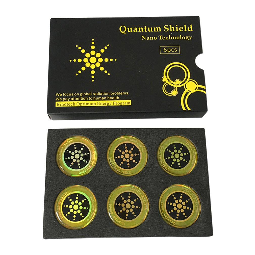 Anti-Radiation Stickers For Mobile Phones Round Shape Electromagnetic Shield Anti-Electromagnetic Wave Patches 6 Pieces