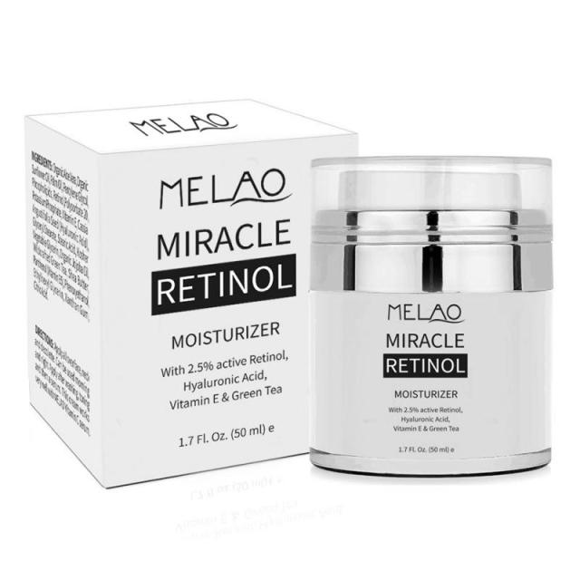 MELAO 2.5% Retinol Moisturizer Cream Hyaluronic Acid Anti Aging Reduces Wrinkles Fine Lines Day And Night Retinol Cream 50ml 1