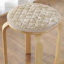Cojín de terciopelo dorado de invierno para silla, soporte de esponja redonda para silla de comedor, cojín para asiento, cojín para taburete, cojín para dormitorio de estudiantes