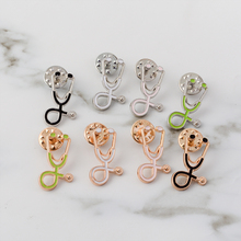 Hot Selledical Pins ! Stethoscope Collection Enamel Badge Lapel Pin Brooch Medical Jewelry for Doctor Nurse Student Gift