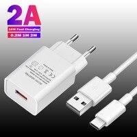 Cargador Usb de 5V y 2A para móvil, Cable Micro USB tipo C de carga rápida para Samsung A52, Huawei P30 Lite, Xiaomi LG